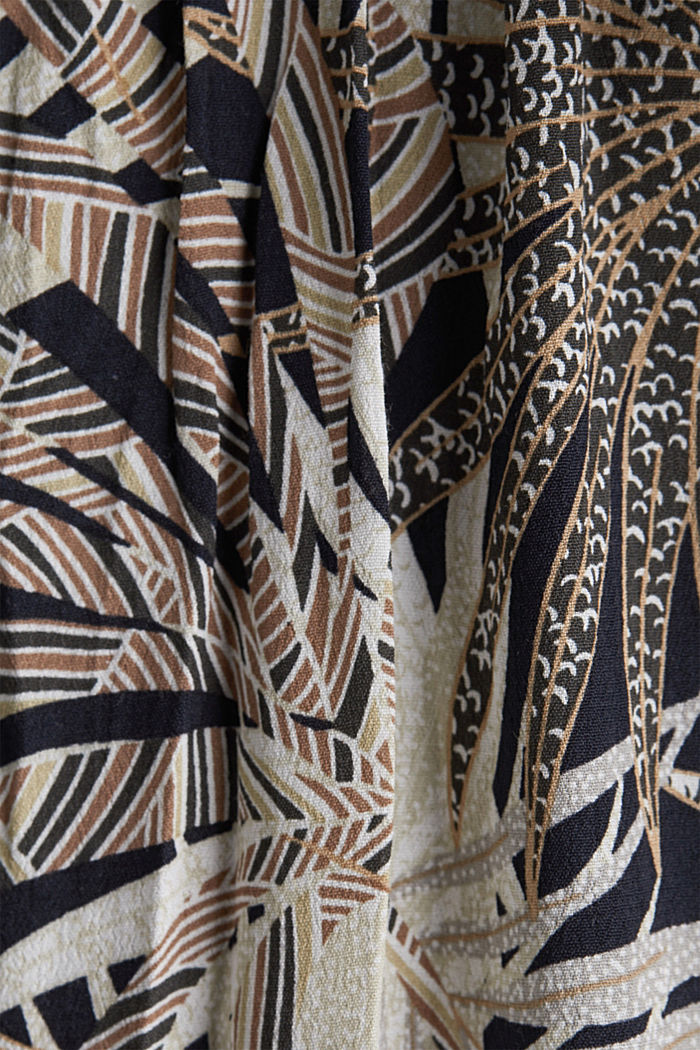 Maxi dress with a palm tree print, BLACK, detail image number 4
