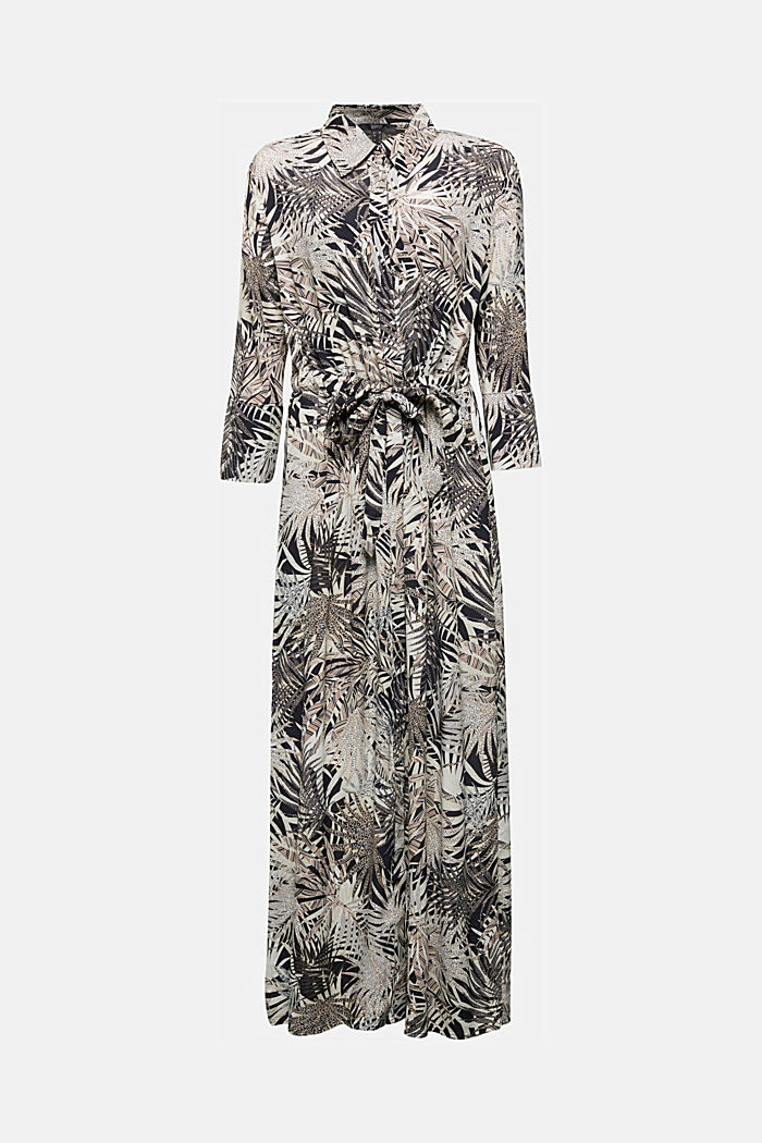 Maxi dress with a palm tree print