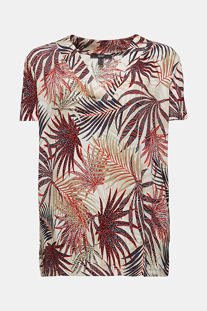 Blouse top with a palm tree print