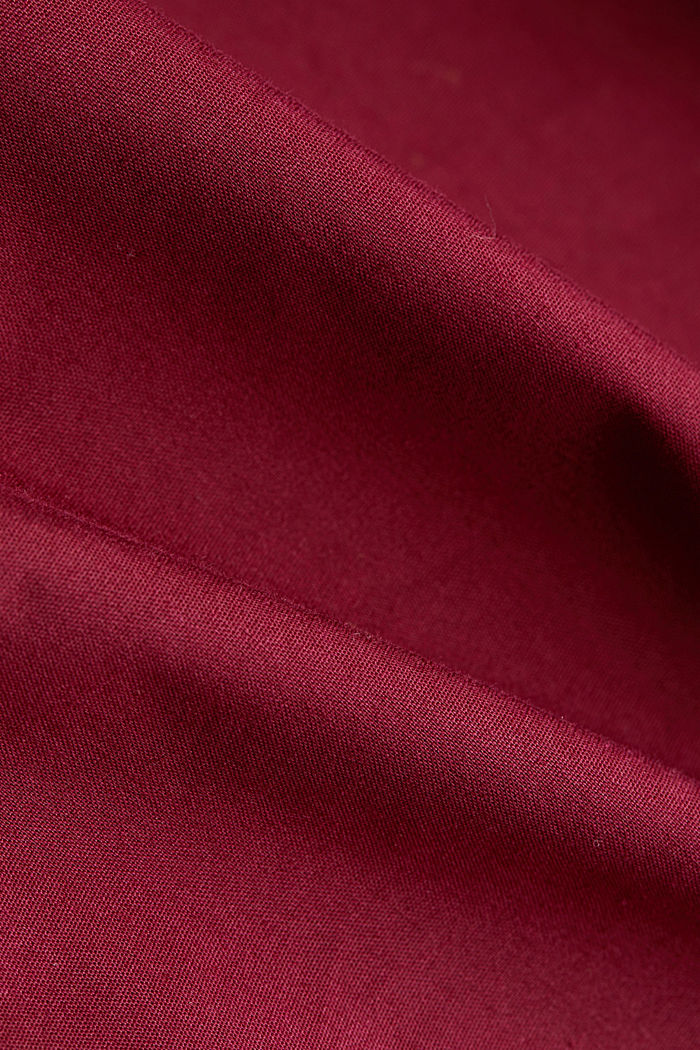 Shirt blouse in a long cut, BORDEAUX RED, detail image number 4