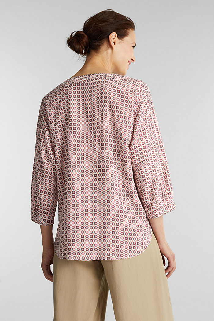 Print-Bluse aus LENZING™ ECOVERO™, OFF WHITE, detail image number 3