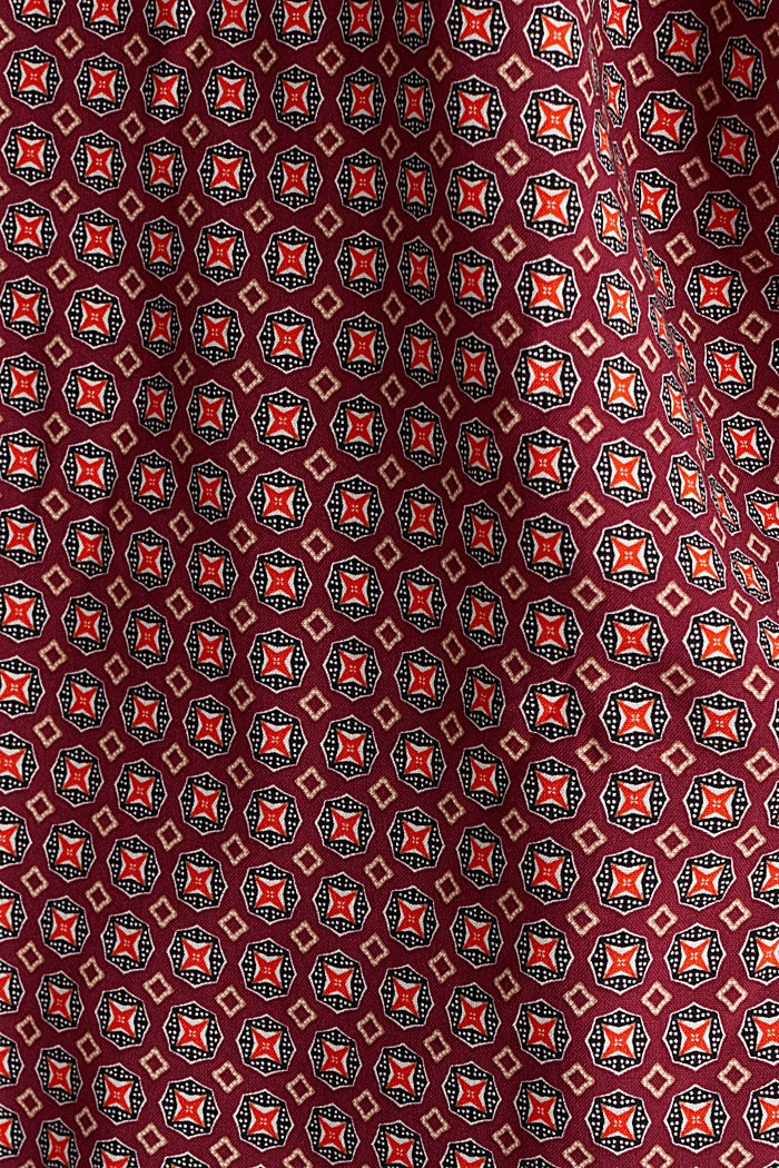 Print blouse with LENZING™ ECOVERO™, BORDEAUX RED, detail image number 4