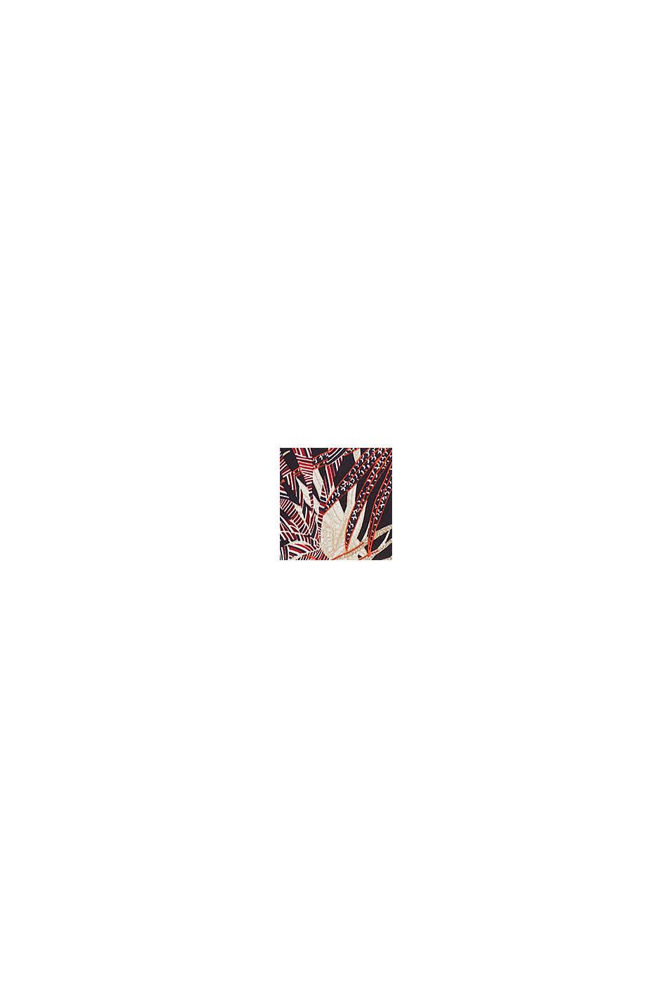 Schlupf-Bluse mit tropischem Print, BLACK, swatch