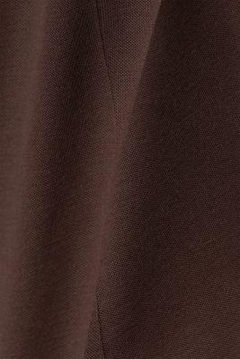 Jersey blazer with stretch for comfort, DARK BROWN, detail