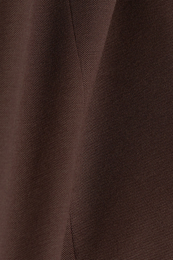 Jersey blazer with stretch for comfort, DARK BROWN, detail image number 4