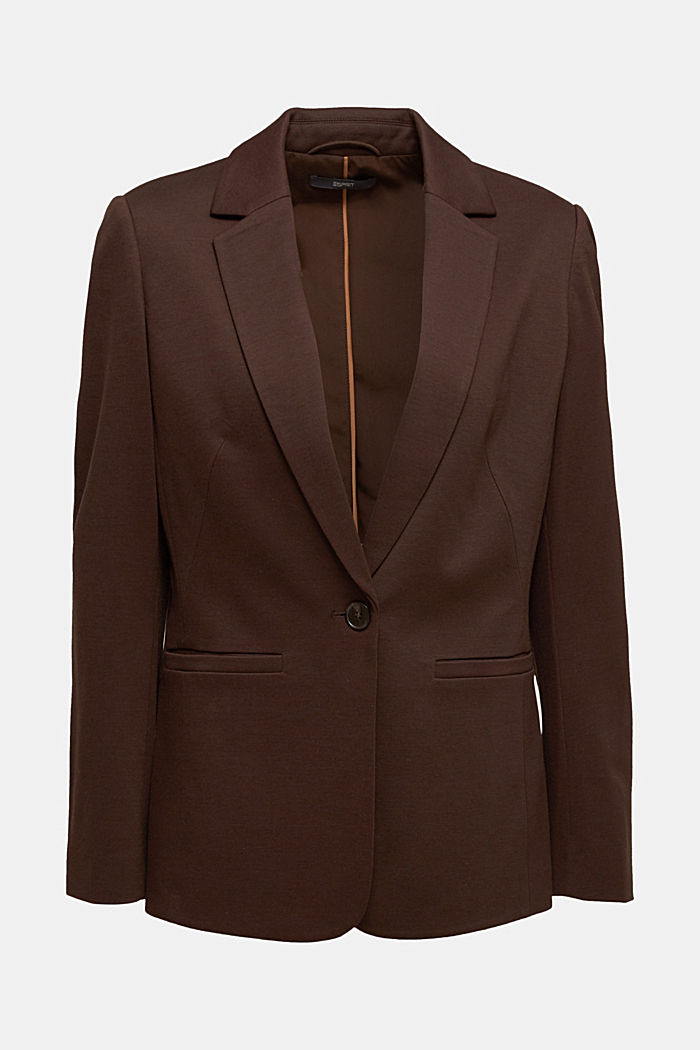 Jersey blazer with stretch for comfort