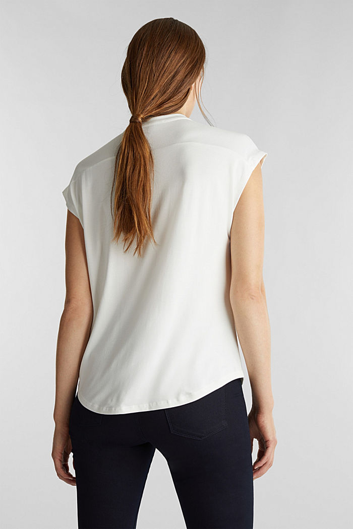 Shirt mit LENZING™ ECOVERO™, OFF WHITE, detail image number 3