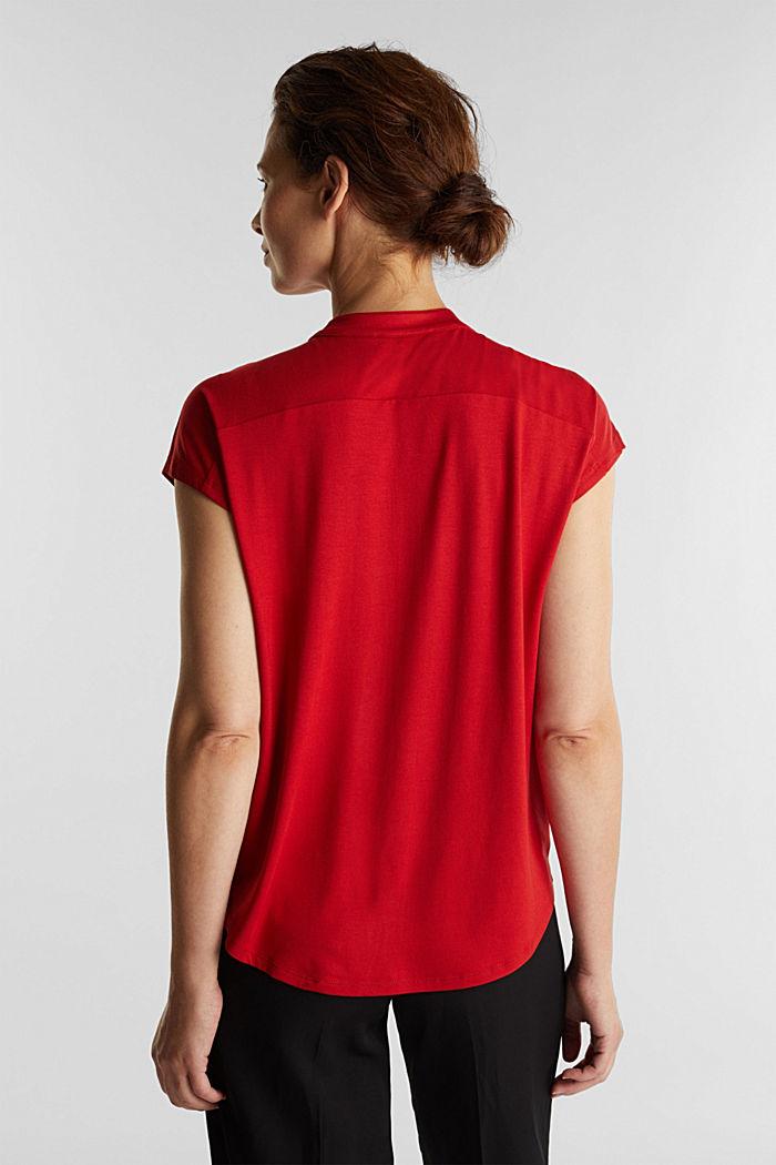 Shirt mit LENZING™ ECOVERO™, DARK RED, detail image number 3