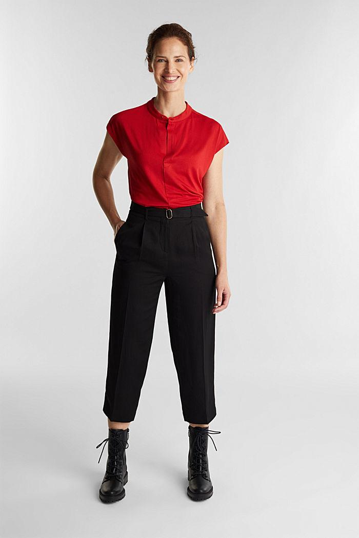 Shirt mit LENZING™ ECOVERO™, DARK RED, detail image number 1