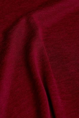 Stand-up collar made of ribbed jersey, BORDEAUX RED, detail