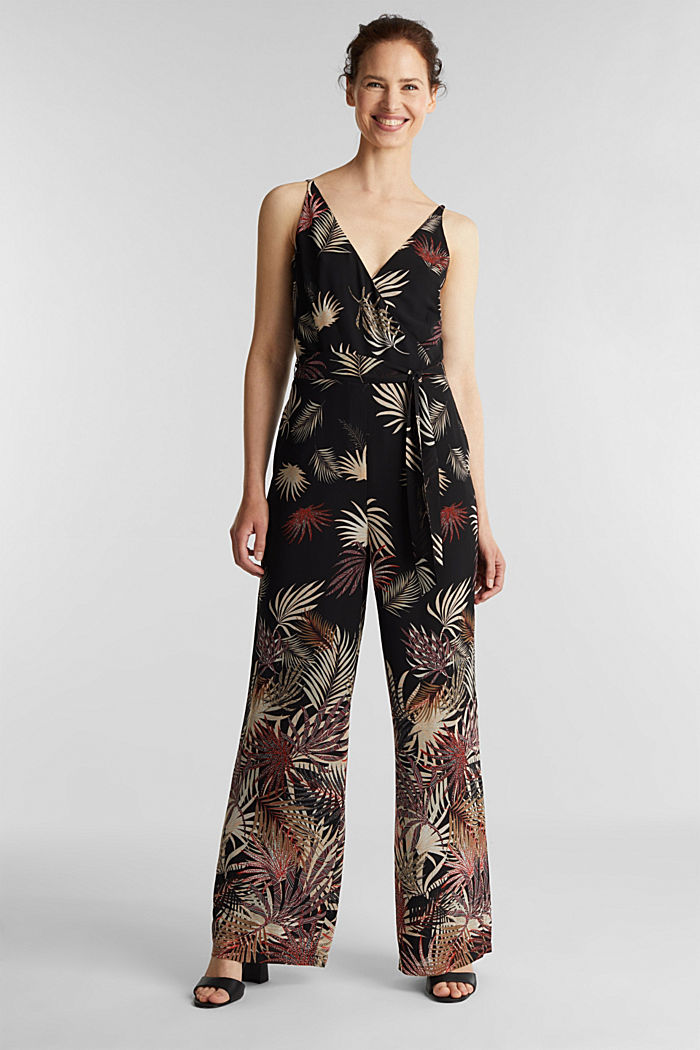 Jumpsuit with a print, recycled