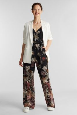Jumpsuit with a print, recycled, BLACK 3, detail