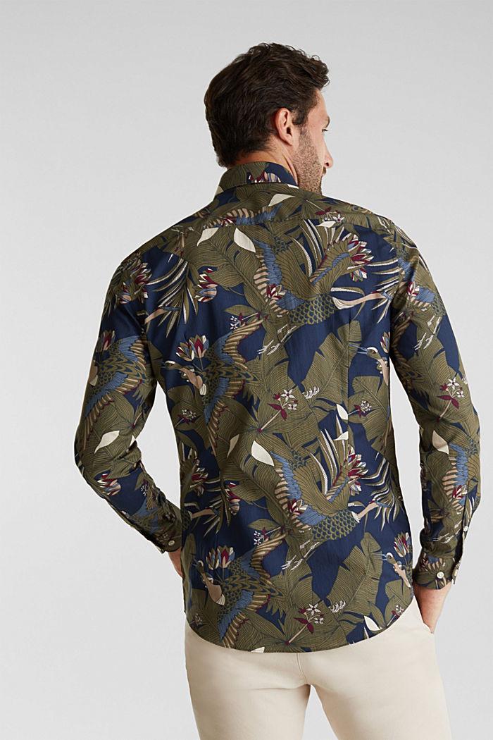 Print shirt, 100% organic cotton, NAVY, detail image number 3