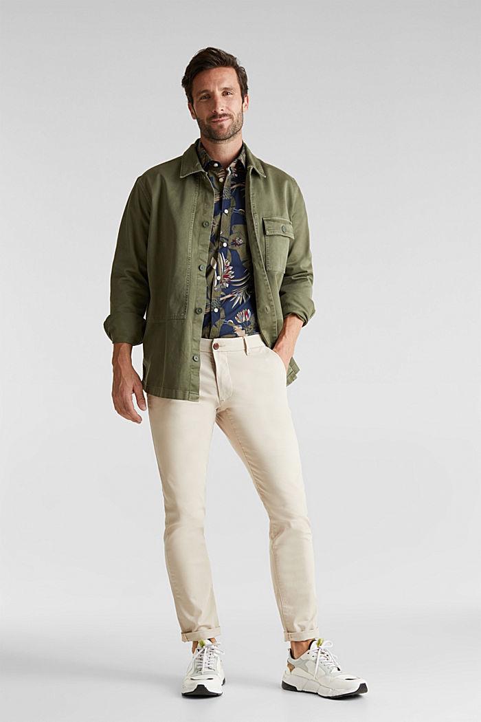 Print shirt, 100% organic cotton, NAVY, detail image number 1