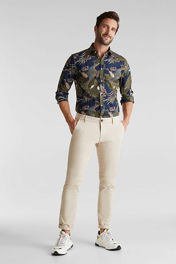 Print shirt, 100% organic cotton, NAVY, detail image number 6