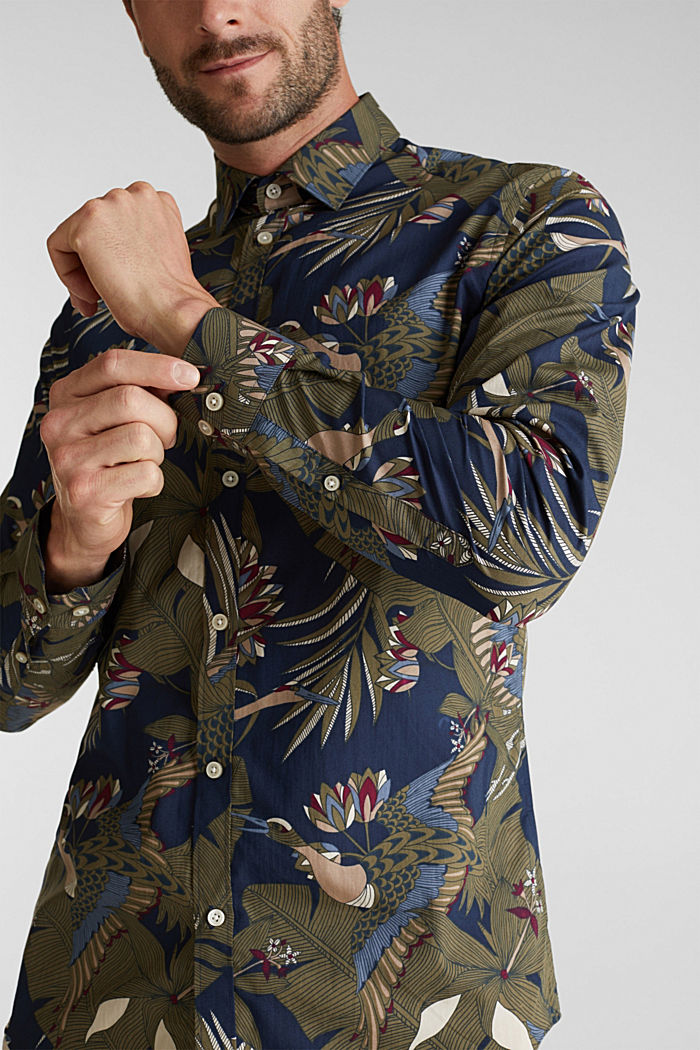 Print shirt, 100% organic cotton, NAVY, detail image number 2