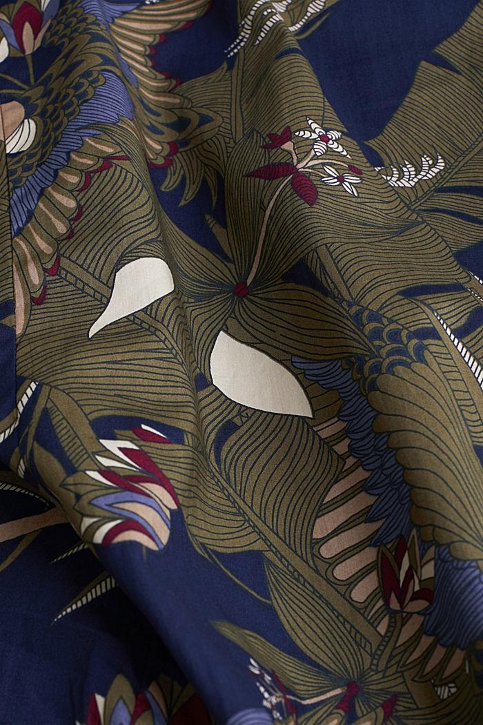Print shirt, 100% organic cotton, NAVY, detail image number 4