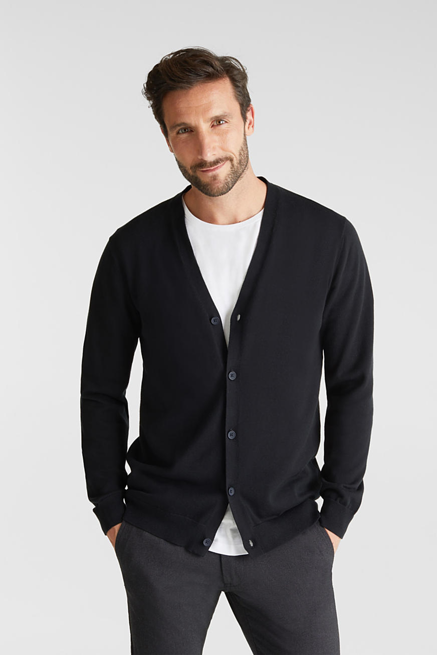 Premium cardigan made of organic pima cotton