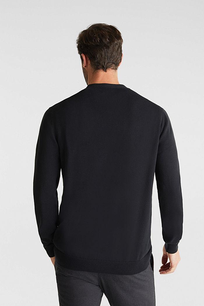 Premium cardigan made of organic pima cotton, BLACK, detail image number 3