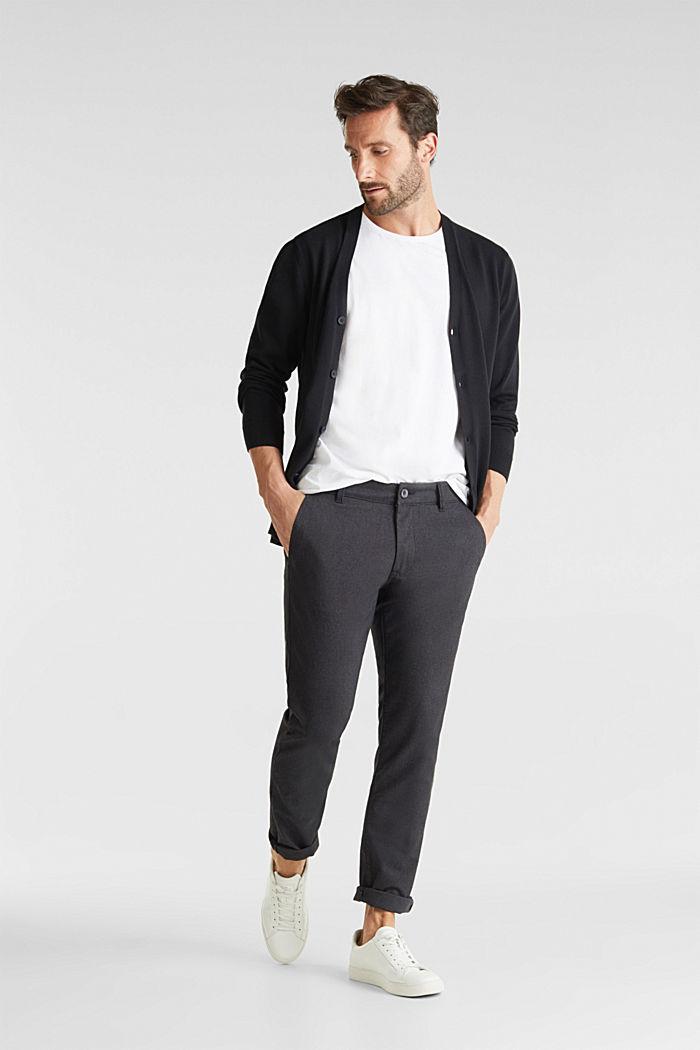 Premium cardigan made of organic pima cotton, BLACK, detail image number 1