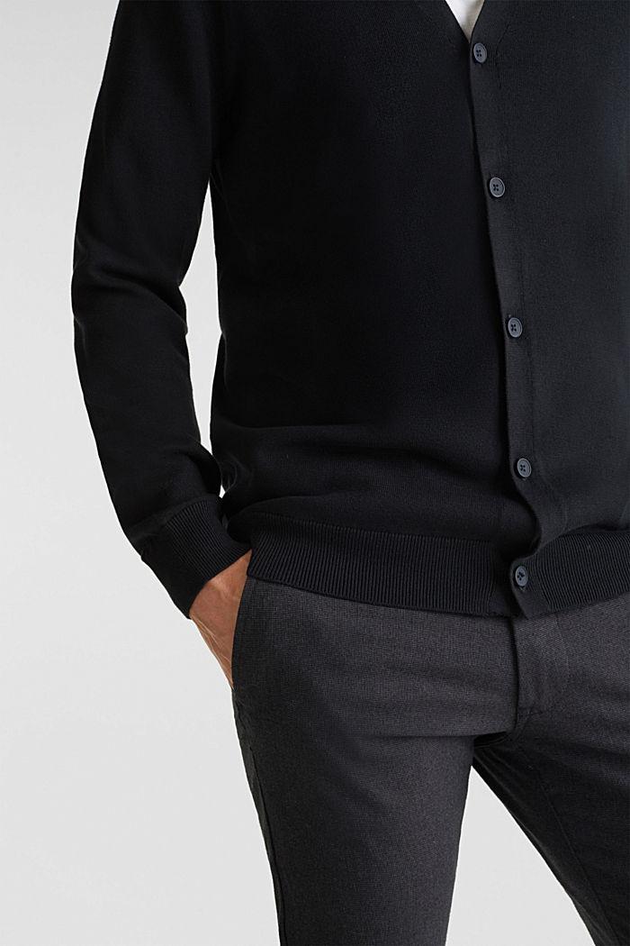 Premium cardigan made of organic pima cotton, BLACK, detail image number 2