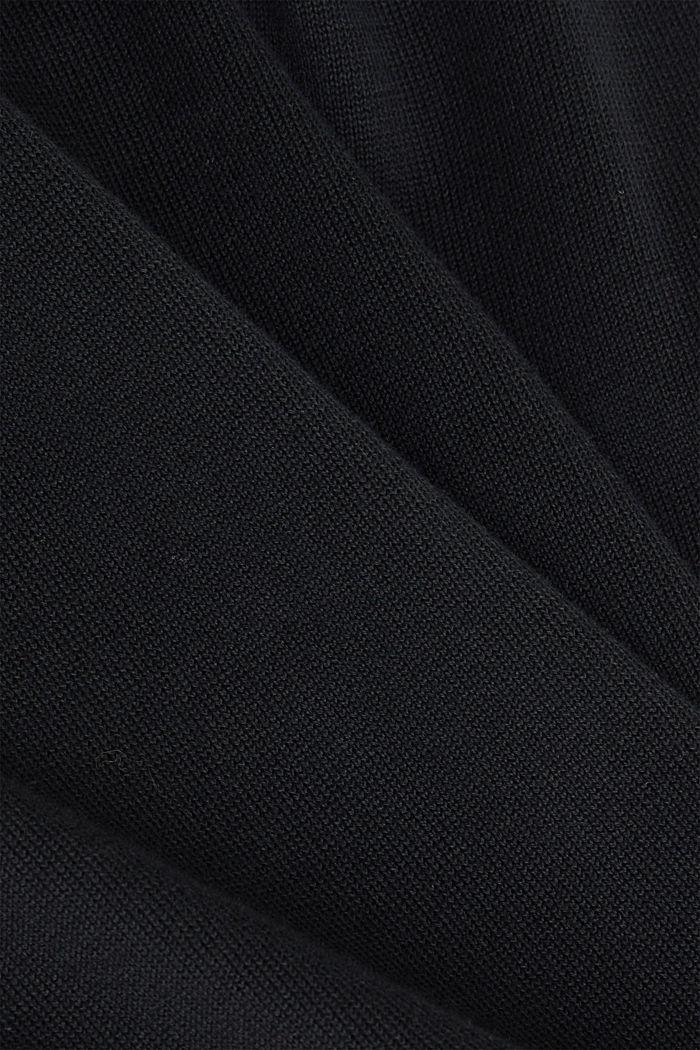 Premium cardigan made of organic pima cotton, BLACK, detail image number 4