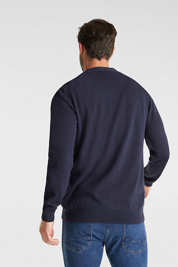 Premium cardigan made of organic pima cotton, NAVY, detail image number 3