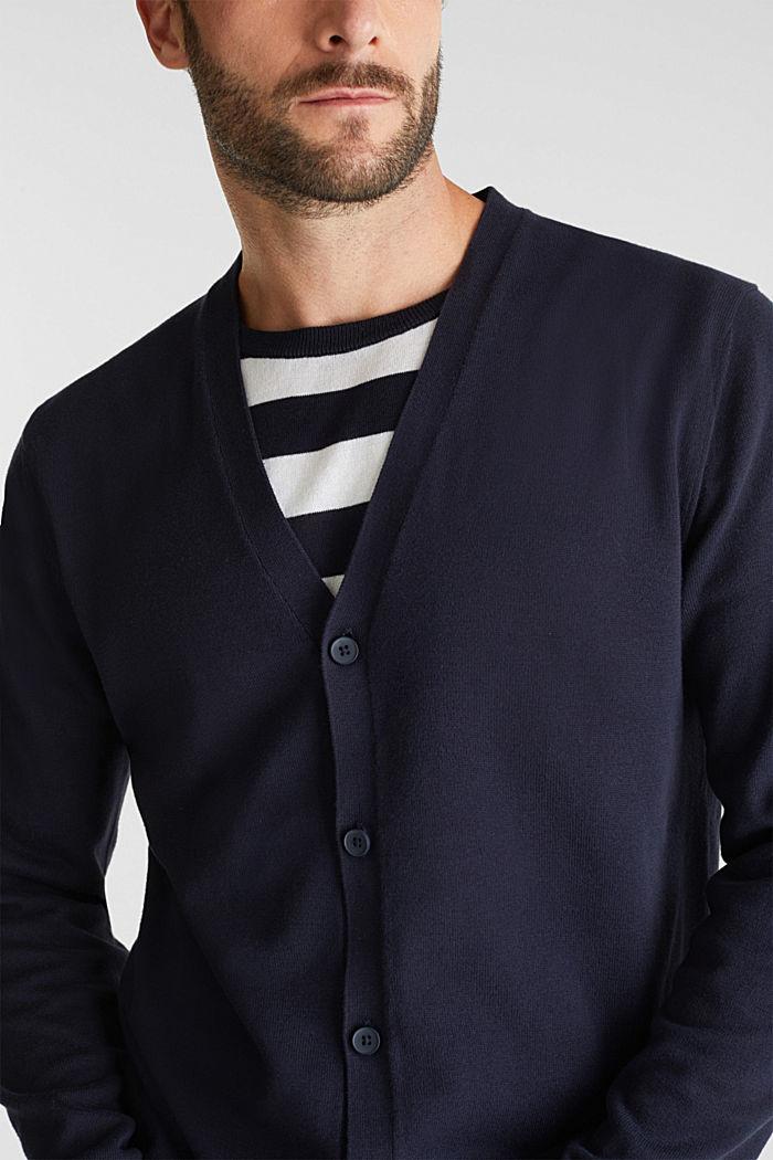 Premium cardigan made of organic pima cotton, NAVY, detail image number 2