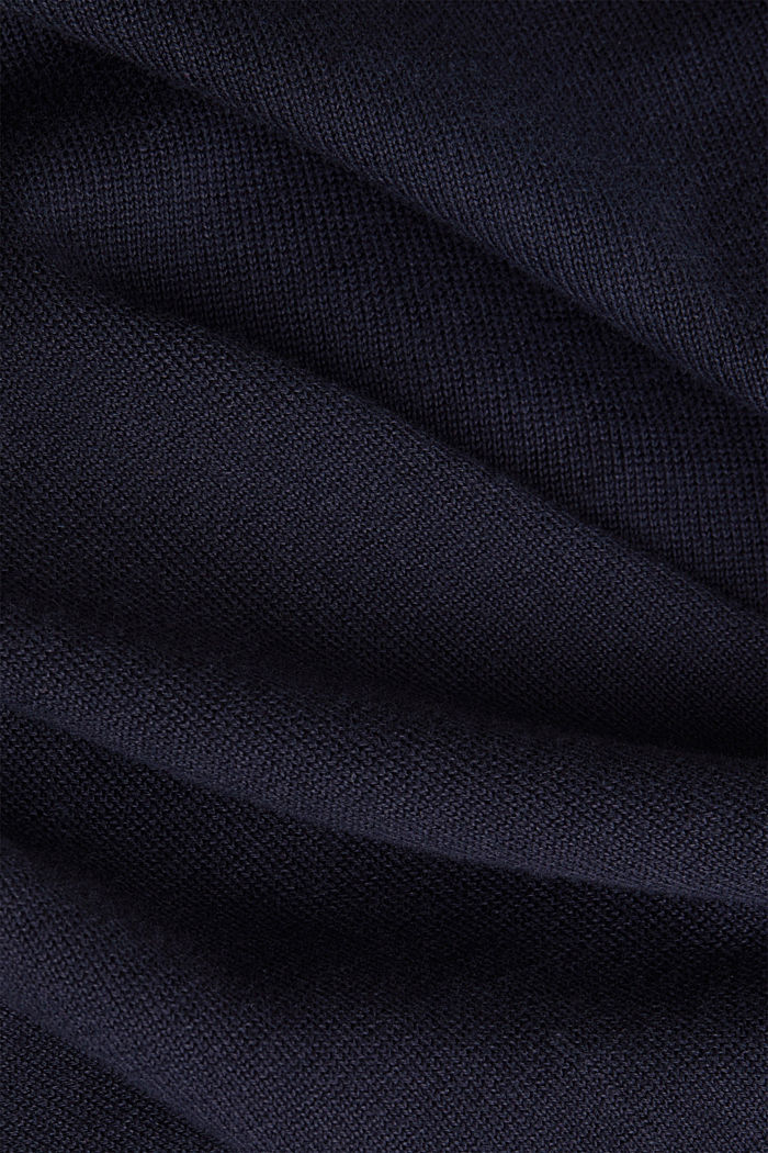 Premium cardigan made of organic pima cotton, NAVY, detail image number 4
