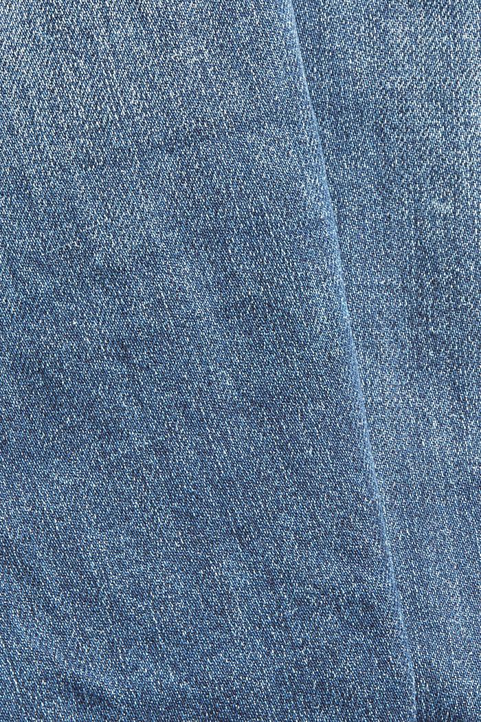 Van biologisch katoen/hennep: used boyfriend jeans, BLUE DARK WASHED, detail image number 4