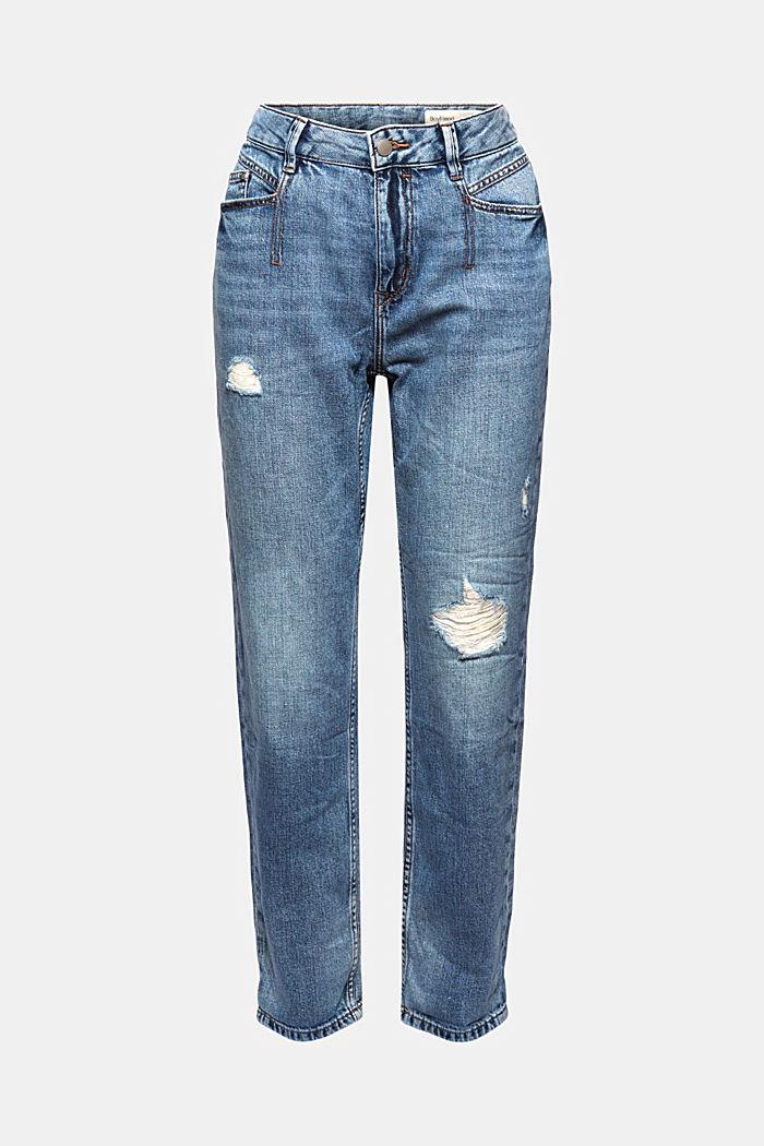 Aus Bio-Baumwolle/Hanf: used Boyfriend-Jeans