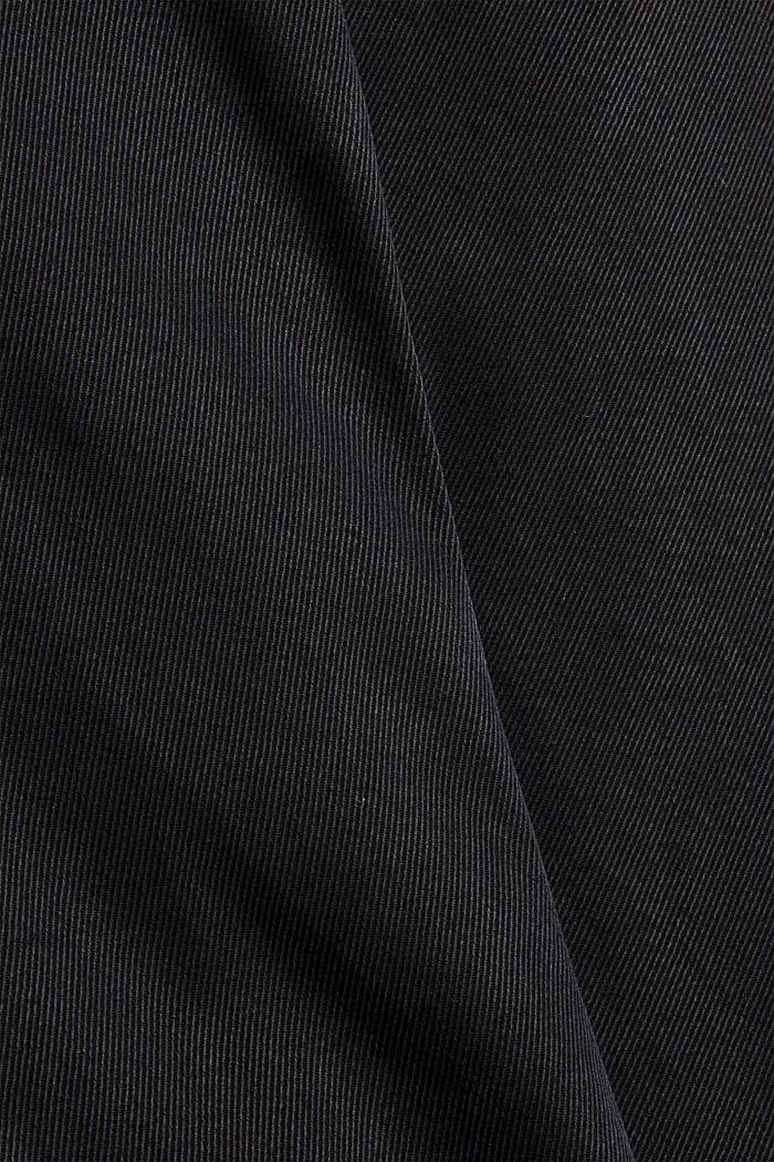 Aus Lyocell-Mix: Twillhose mit Superstretch, BLACK, detail image number 4