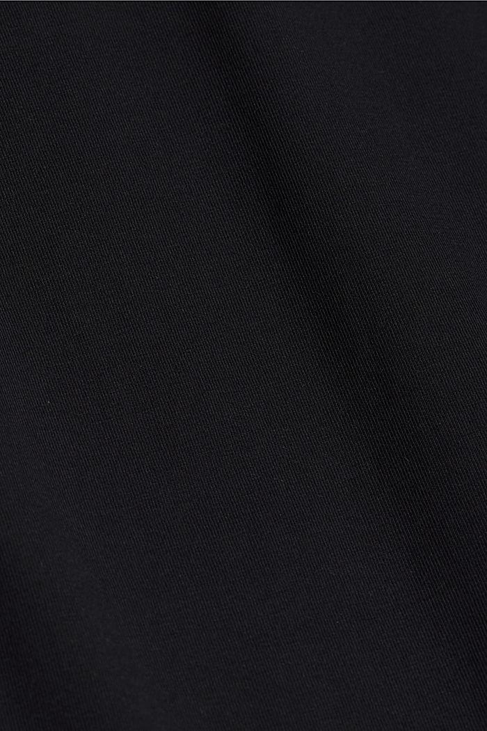 Jersey midi skirt, organic cotton, BLACK, detail image number 4