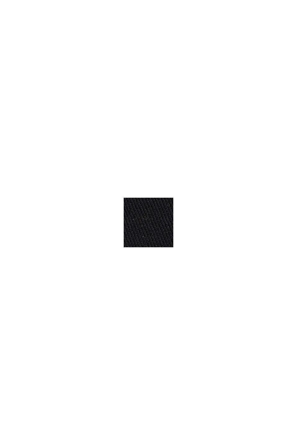 Mini-nederdel af jersey, økologisk bomuld, BLACK, swatch