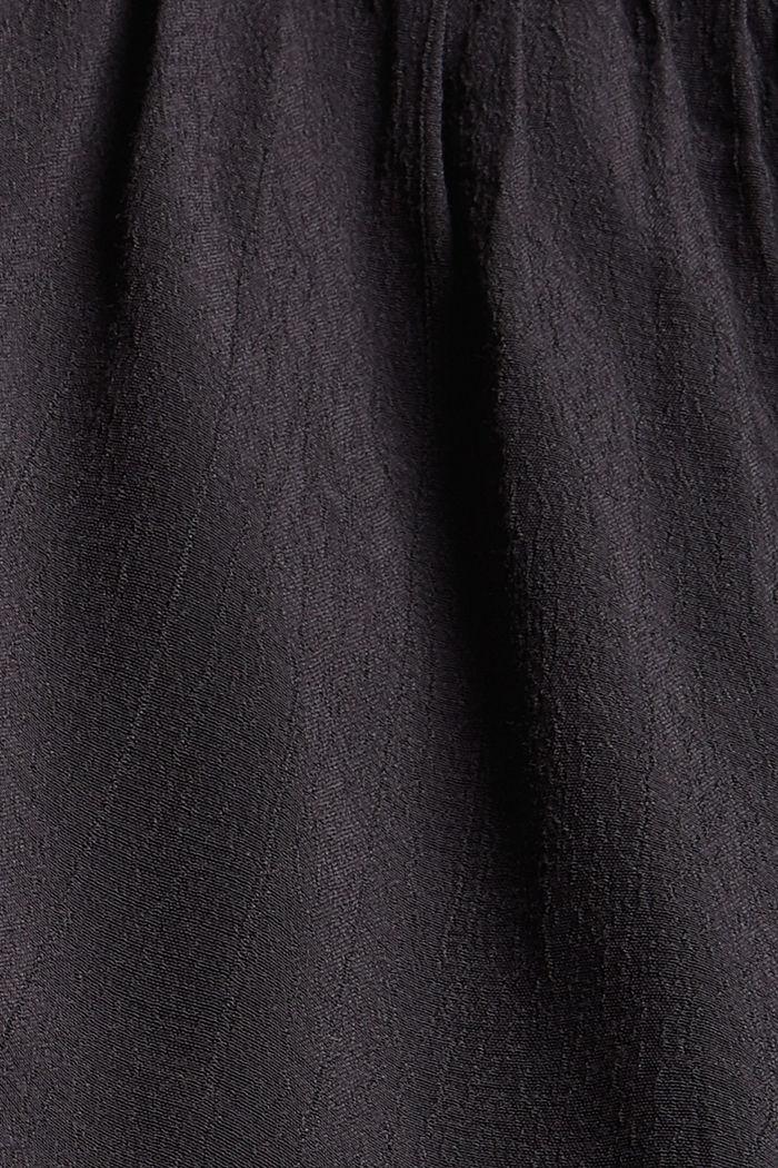 Minijupe smockée à volants, LENZING™ ECOVERO™, BLACK, detail image number 4