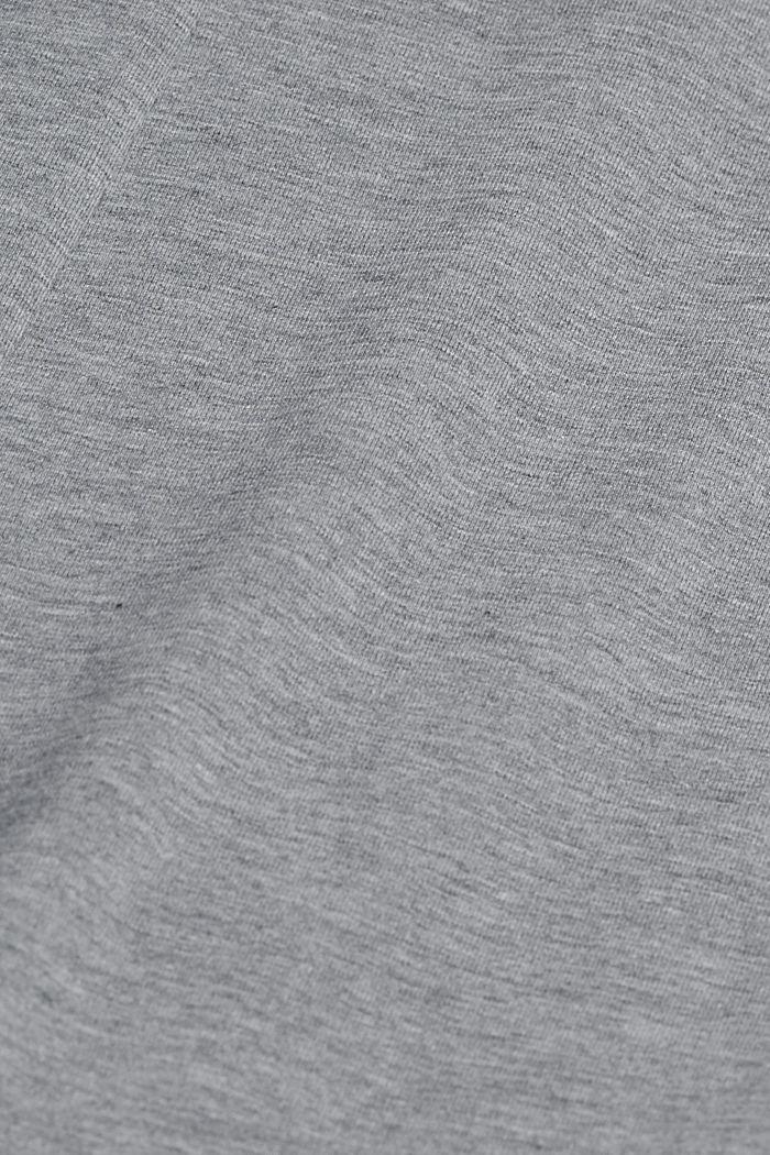 Jersey-Midirock aus Bio-Baumwoll-Mix, MEDIUM GREY, detail image number 4