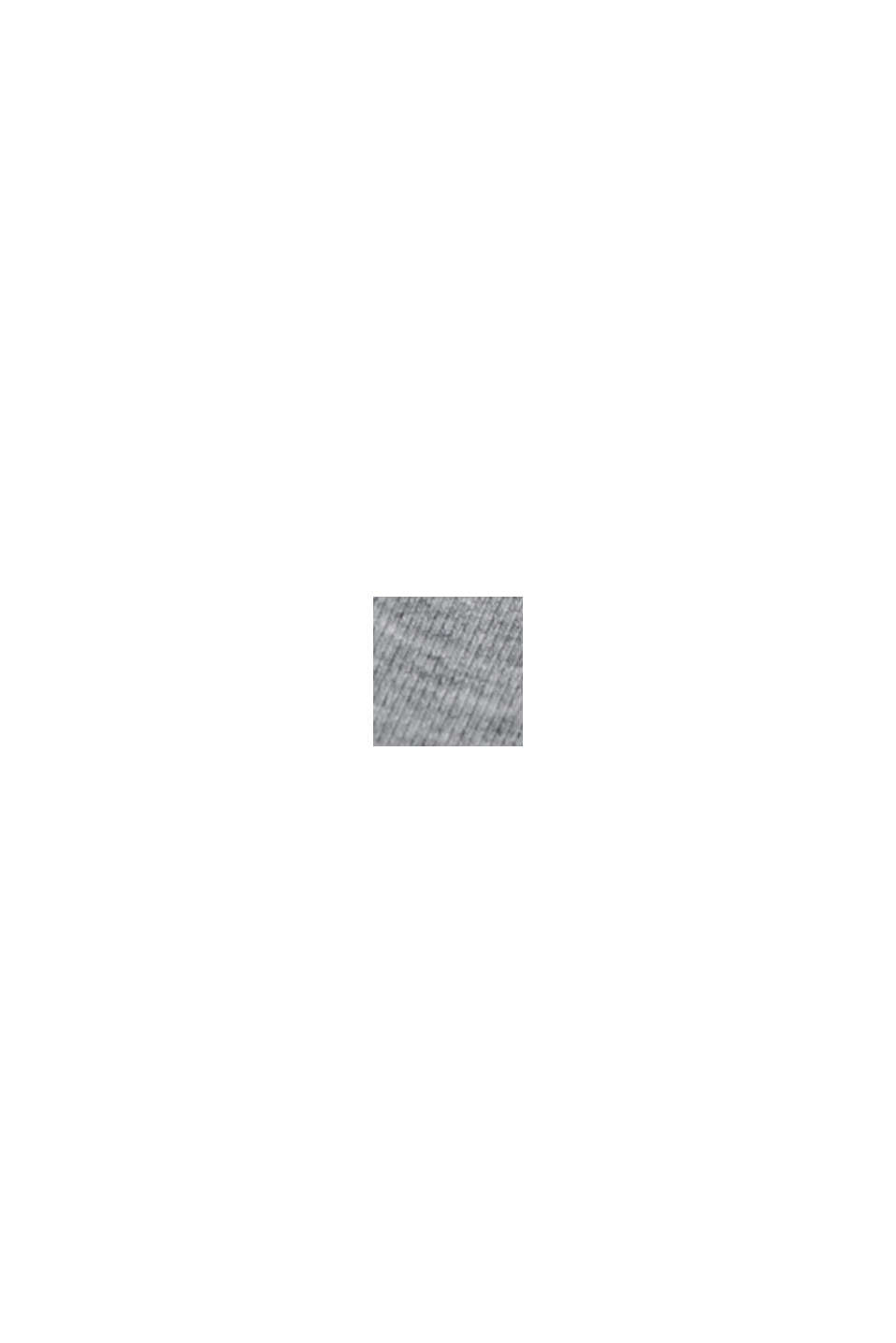 Jupe longueur midi en jersey de coton bio mélangé, MEDIUM GREY, swatch