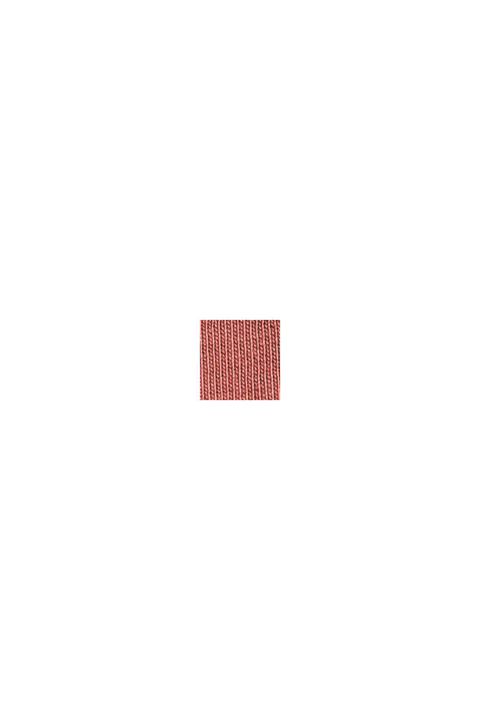 Jerseykleid mit Volants, 100% Bio-Baumwolle, CORAL, swatch