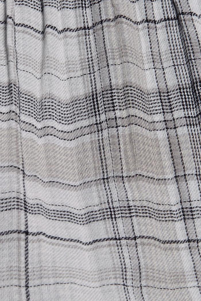 Geruite double face jurk van 100% katoen, BLACK, detail image number 4