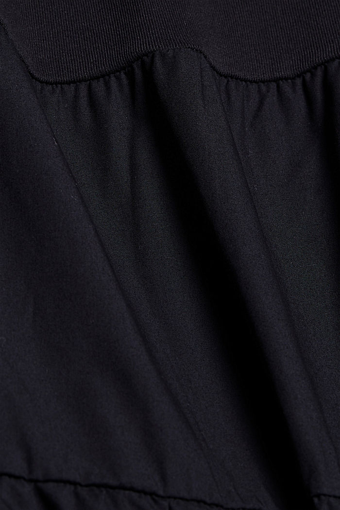 Mixed material sweatshirt dress, BLACK, detail image number 4