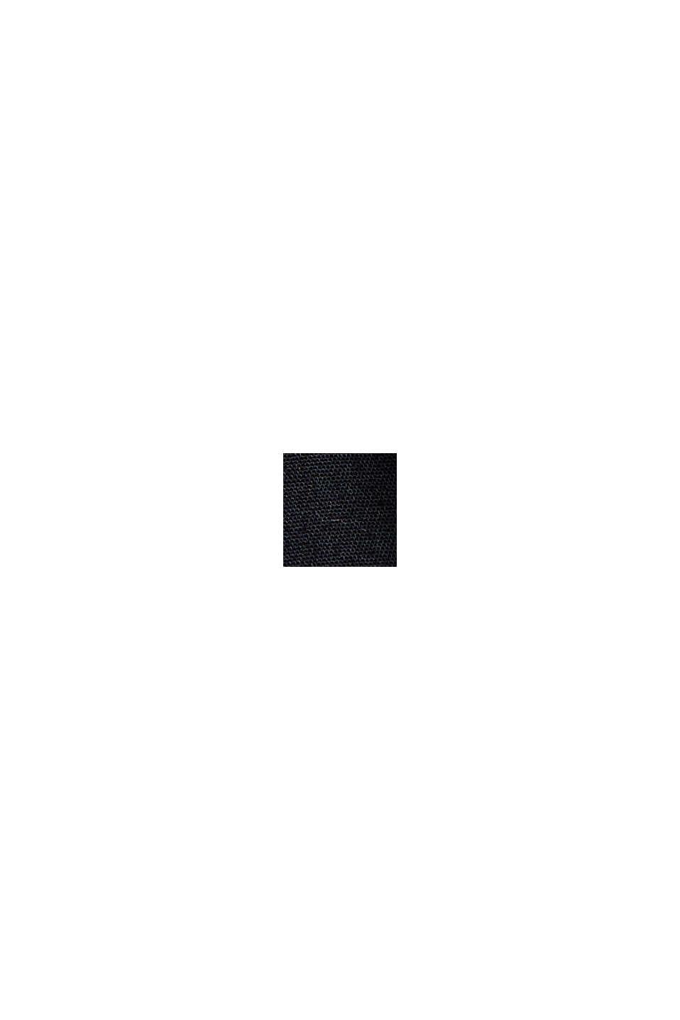 Sweatshirt-Kleid aus Material-Mix, BLACK, swatch