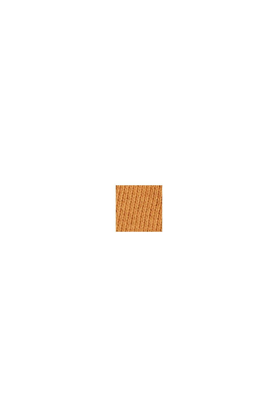 Sweatshirt-Kleid aus Material-Mix, BARK, swatch