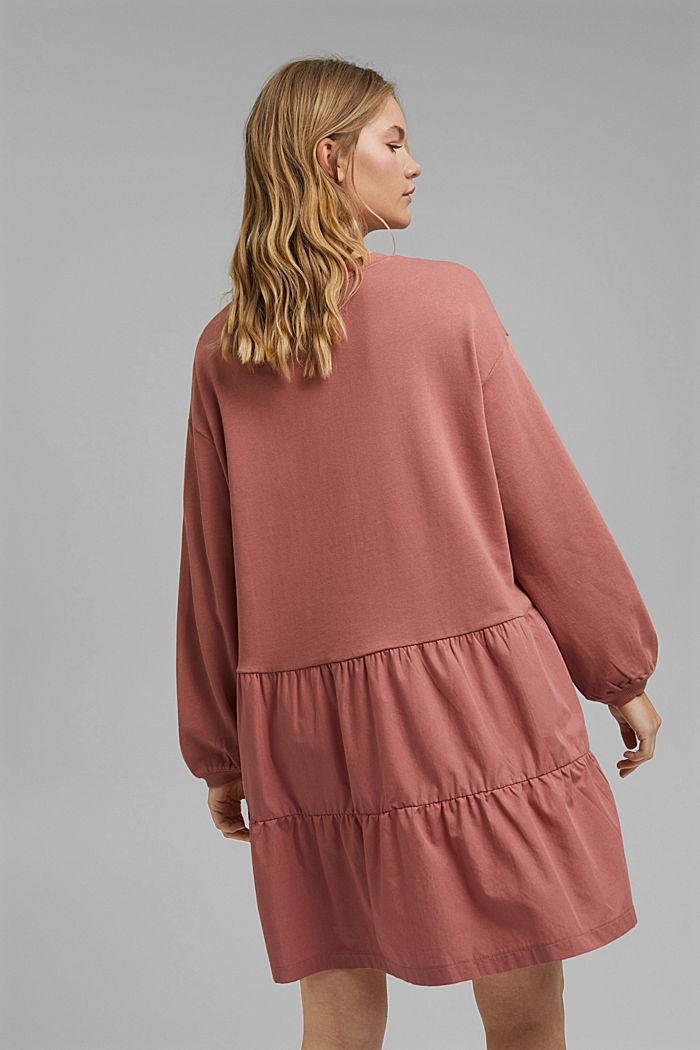 Mixed material sweatshirt dress, CORAL, detail image number 2