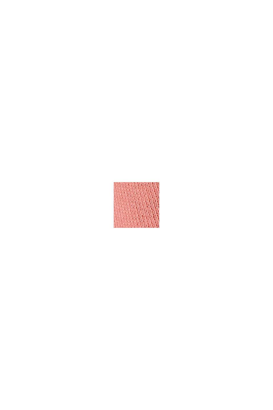 Sweatshirt-Kleid aus Material-Mix, CORAL, swatch