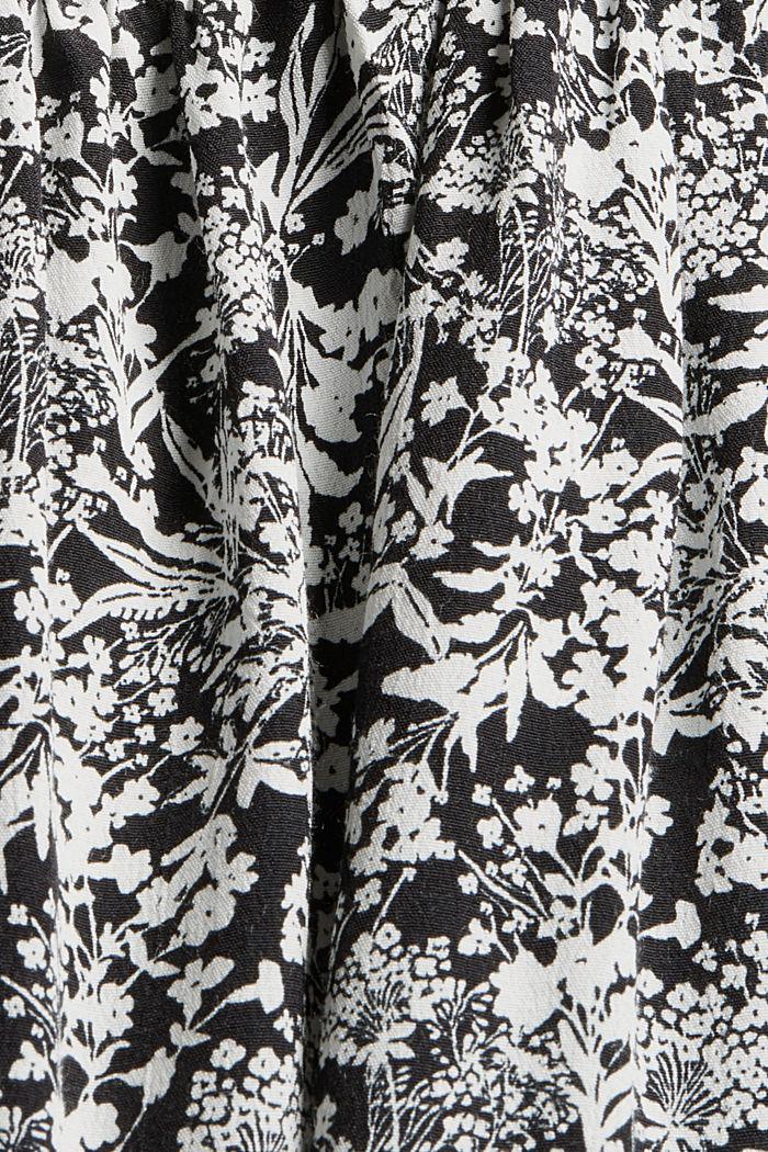Smok-Blusentop mit Volants, LENZING™ ECOVERO™, BLACK, detail image number 4