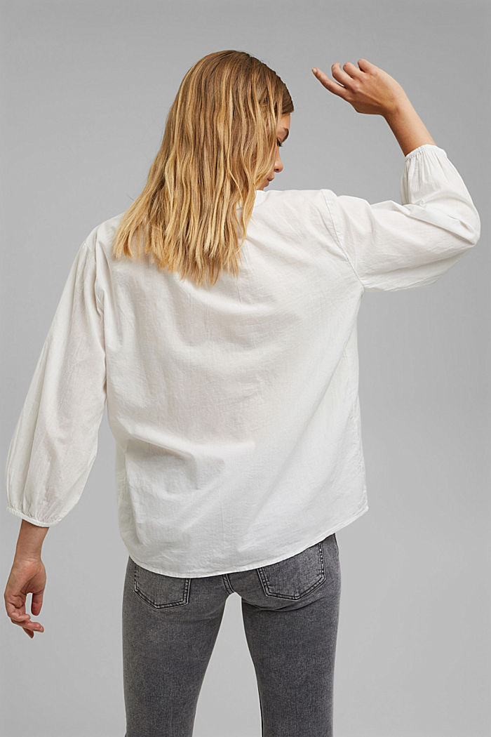 Halenka se 3/4 rukávy, 100% bavlna, OFF WHITE, detail image number 3
