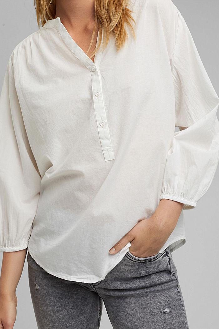 Halenka se 3/4 rukávy, 100% bavlna, OFF WHITE, detail image number 2