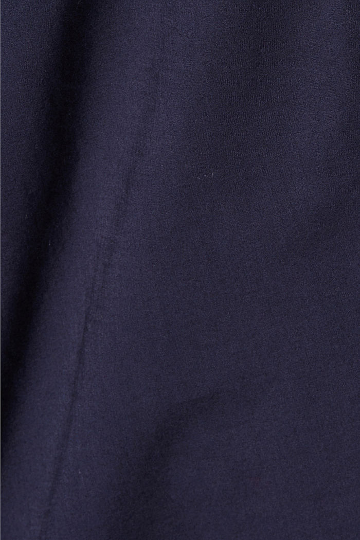 Blouse with 3/4-length sleeves, 100% cotton, NAVY, detail image number 4
