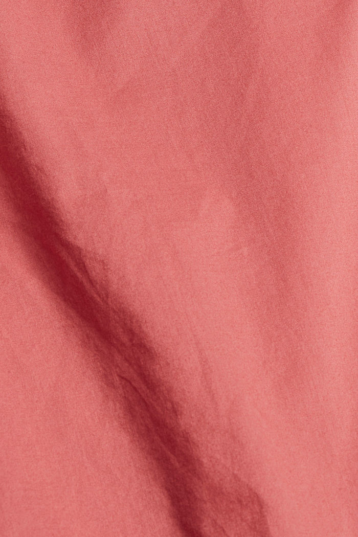 Blouse with 3/4-length sleeves, 100% cotton, CORAL, detail image number 4
