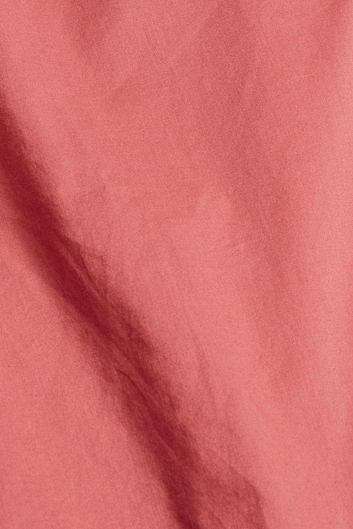 Bluse mit 3/4 Ärmeln, 100% Baumwolle, CORAL, detail image number 4